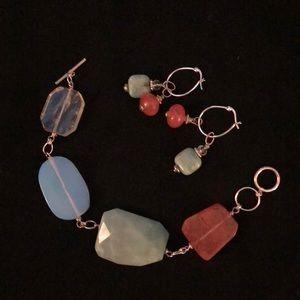 Jewelry - Handmade polished stone set